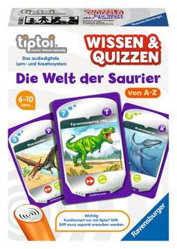 00842 tiptoi® Spiele tiptoi® Wissen und Quizzen: Die Welt der Saurier von Ravensburger 1