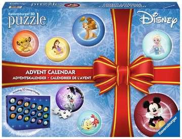 Puzzle 3D Calendrier de l avent Disney Puzzle 3D;Puzzles 3D Ronds - Image 1 - Ravensburger