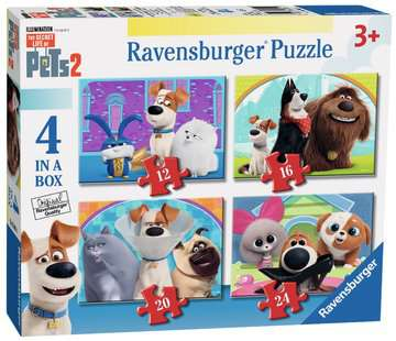 The Secret Life of Pets 2, 4 in a Box Puzzles;Children s Puzzles - image 1 - Ravensburger