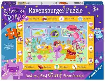 School of Roars Giant Floor Puzzle, 24pc Puzzles;Children s Puzzles - image 1 - Ravensburger