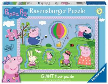 Peppa Pig Giant Floor Puzzle with Large Shaped Characters Puzzles;Children s Puzzles - image 1 - Ravensburger