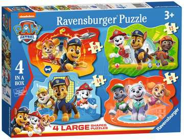 Paw Patrol Four Large Shaped Puzzles Puzzles;Children s Puzzles - image 1 - Ravensburger