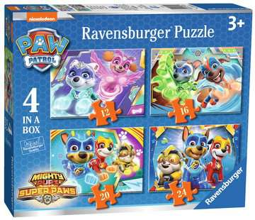 Paw Patrol Mighty Pups 4 in a Box Puzzles;Children s Puzzles - image 1 - Ravensburger