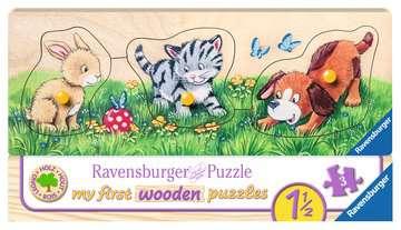 Niedliche Tierkinder Puzzle;Kinderpuzzle - Bild 1 - Ravensburger