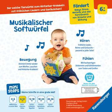 04162 Spielzeug Musikalischer Softwürfel von Ravensburger 4