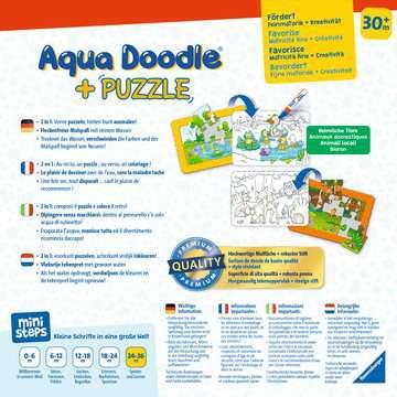 04184 Aqua Doodle® Aqua Doodle® Puzzle: Heimische Tiere von Ravensburger 2