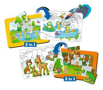 Aqua Doodle® Puzzle: Heimische Tiere Baby und Kleinkind;Aqua Doodle® - Bild 1 - Ravensburger