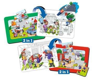 Aqua Doodle® Puzzle: Einsatzfahrzeuge Baby und Kleinkind;Aqua Doodle® - Bild 1 - Ravensburger