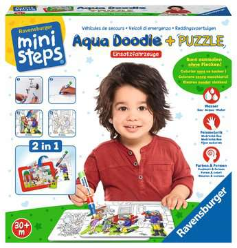 Aqua Doodle® Puzzle: Einsatzfahrzeuge Baby und Kleinkind;Aqua Doodle® - Bild 2 - Ravensburger