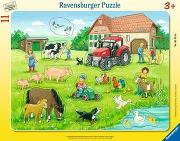 05024 Kinderpuzzle Sommertag auf dem Bauernhof von Ravensburger 1