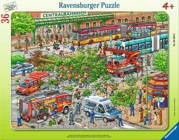 Einsatz auf der Straße Puzzle;Kinderpuzzle - Bild 1 - Ravensburger