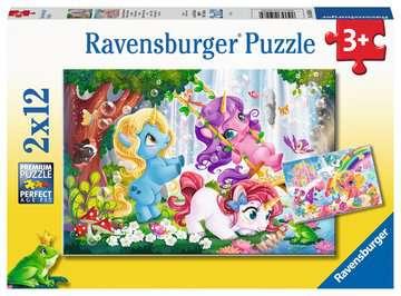 Magische Einhornwelt      2x12p Puslespil;Puslespil for børn - Billede 1 - Ravensburger