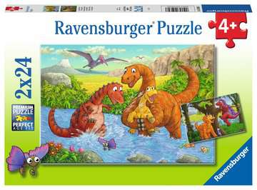 Dinosaurs at play Jigsaw Puzzles;Children s Puzzles - image 1 - Ravensburger