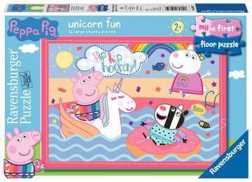 Peppa Pig Unicorn Fun, My First Floor Puzzle, 16pc Puzzles;Children s Puzzles - image 1 - Ravensburger