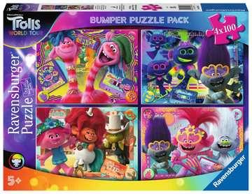 Trolls 2:La musica ci unisce Puzzle 4x100 Bumper Pack Puzzle;Puzzle per Bambini - immagine 1 - Ravensburger