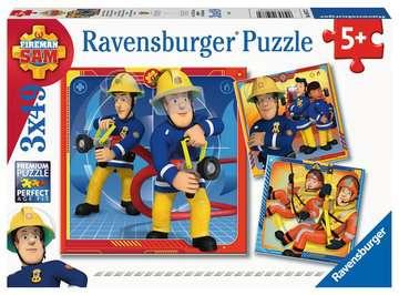 Puzzles 3x49 p - Notre héros Sam le pompier Puzzle;Puzzle enfant - Image 1 - Ravensburger