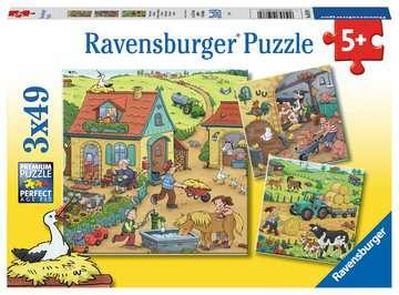 Viel los auf dem Bauernhof3x49p Puslespil;Puslespil for børn - Billede 1 - Ravensburger