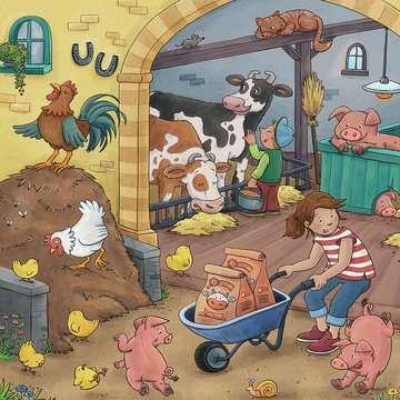 05078 Kinderpuzzle Viel los auf dem Bauernhof von Ravensburger 3