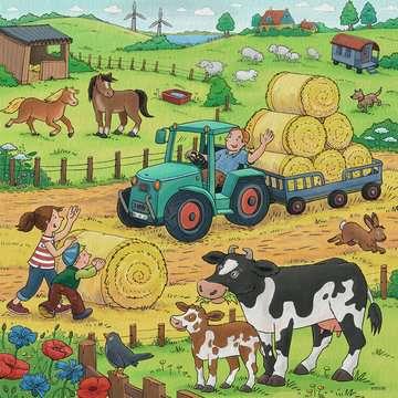 05078 Kinderpuzzle Viel los auf dem Bauernhof von Ravensburger 4