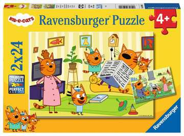 At home with Kid-e-Cats   2x24p Puslespil;Puslespil for børn - Billede 1 - Ravensburger