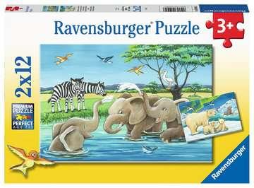 Baby Safari Animals       2x12p Puslespil;Puslespil for børn - Billede 1 - Ravensburger