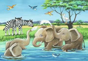 Baby Safari Animals       2x12p Puslespil;Puslespil for børn - Billede 2 - Ravensburger