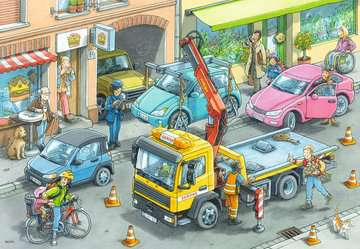 Müllabfuhr u.Abschleppw.2x24p Puslespil;Puslespil for børn - Billede 2 - Ravensburger