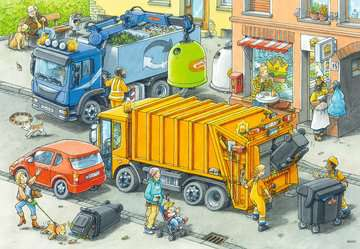 Müllabfuhr u.Abschleppw.2x24p Puslespil;Puslespil for børn - Billede 3 - Ravensburger