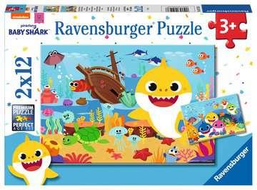 Der kleine Baby Hai       2x12p Puslespil;Puslespil for børn - Billede 1 - Ravensburger