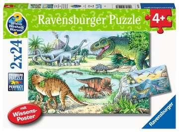 05128 Kinderpuzzle Saurier und ihre Lebensräume von Ravensburger 1