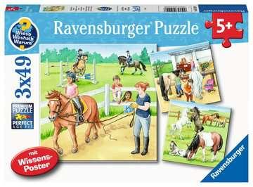 Een dag op de manege Puzzels;Puzzels voor kinderen - image 1 - Ravensburger