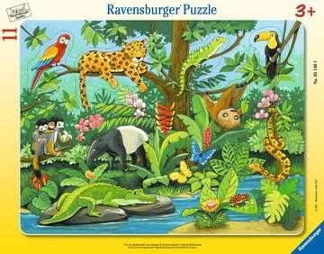 05140 Kinderpuzzle Tiere im Regenwald von Ravensburger 1