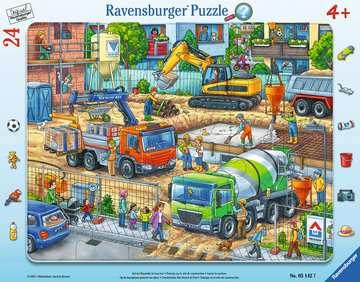 05142 Kinderpuzzle Auf der Baustelle ist was los! von Ravensburger 1
