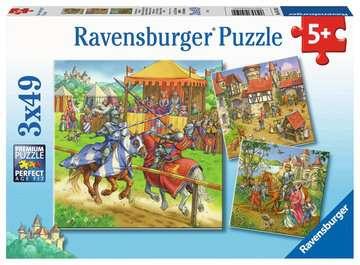 Ritterturn. im Mittelalter3x49p Puslespil;Puslespil for børn - Billede 1 - Ravensburger