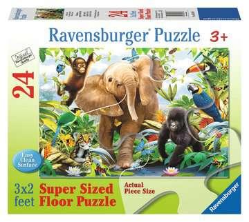 PRZYJACIELE Z DŻUNGLI PODŁ.24EL. Puzzle;Puzzle dla dzieci - Zdjęcie 1 - Ravensburger