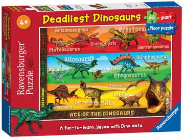 Deadliest Dinosaurs Giant Floor Puzzle 60pc Image 1