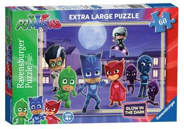 PJ Masks Glow in the Dark Puzzle, 60pc Puzzles;Children s Puzzles - image 1 - Ravensburger