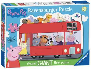 London Bus Shaped Giant Floor Puzzle, 24pc Puzzles;Children s Puzzles - image 1 - Ravensburger