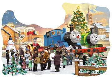 Thomas & Friends Shaped Chistmas Puzzle, 32pc with Door Hanger Puzzles;Children s Puzzles - image 2 - Ravensburger