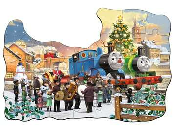 Thomas & Friends Shaped Chistmas Puzzle, 32pc with Door Hanger Puzzles;Children s Puzzles - image 4 - Ravensburger