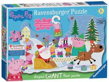 Peppa Pig Christmas Shaped Floor Puzzle, 32pc Puzzles;Children s Puzzles - image 1 - Ravensburger