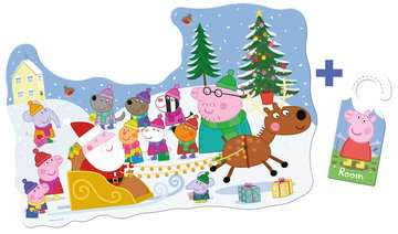 Peppa Pig Christmas Shaped Floor Puzzle, 32pc Puzzles;Children s Puzzles - image 3 - Ravensburger