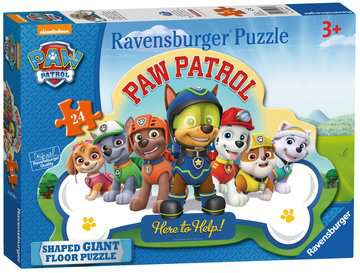 Paw Patrol Shaped Floor Puzzle, 24pc Puzzles;Children s Puzzles - image 1 - Ravensburger