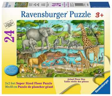 Watering Hole Delight Jigsaw Puzzles;Children s Puzzles - image 1 - Ravensburger