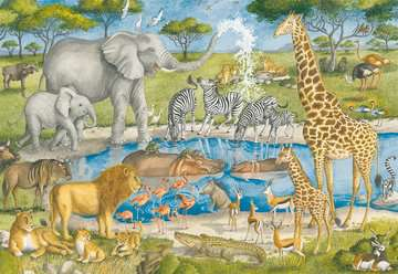 Watering Hole Delight Jigsaw Puzzles;Children s Puzzles - image 2 - Ravensburger