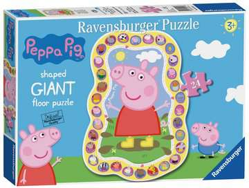 Peppa Pig Shaped Floor Puzzle, 24pc Puzzles;Children s Puzzles - image 1 - Ravensburger