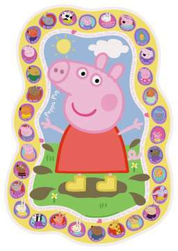 Peppa Pig Shaped Floor Puzzle, 24pc Puzzles;Children s Puzzles - image 2 - Ravensburger