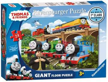 Thomas & Friends Rebecca joins the Team, 24pc Giant Floor Jigsaw Puzzle Puzzles;Children s Puzzles - image 1 - Ravensburger