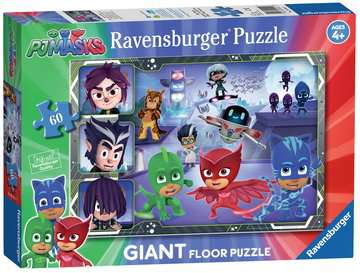 PJ Masks Giant Floor Puzzle Puzzles;Children s Puzzles - image 1 - Ravensburger