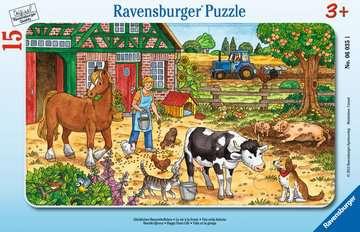 Puzzle cadre 15 p - La vie à la ferme Puzzle;Puzzle enfant - Image 1 - Ravensburger